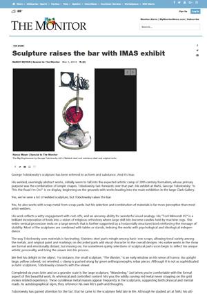 Sculpture-raises-the-bar-with-IMAS-exhibit-THE-MONITOR